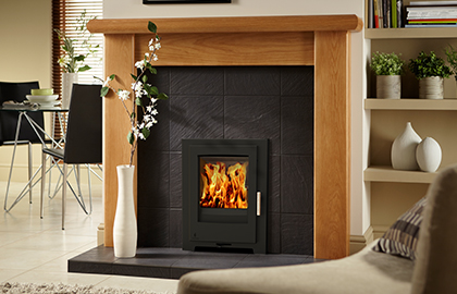 Aarrow iSeries 400CB Multifuel / Wood Burning Inset Stove
