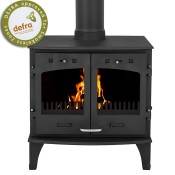 Carron 11KW Matt Black Multi Fuel Woodburning Stove
