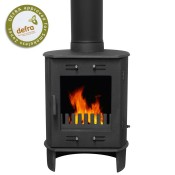 Carron Dante Matt Black Multifuel Woodburning Stove