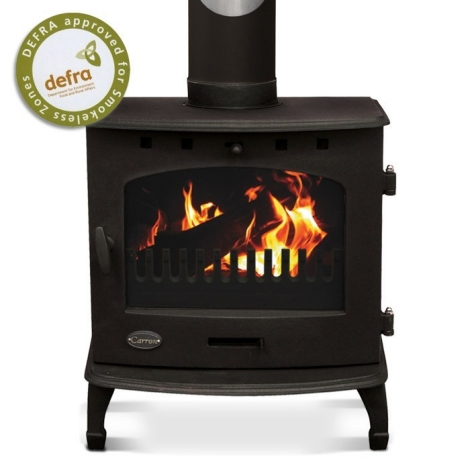 Carron Matt Black 4.7kW Multifuel Woodburning Stove