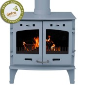 Carron 11kW China Blue Enamel Multifuel / Wood Burning Stove