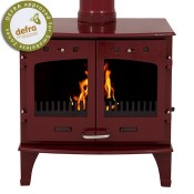 Carron 11kW Red Enamel Multifuel / Wood Burning Stove