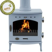 Carron 7.3kW China Blue Enamel Multifuel / Wood Burning Stove