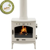 Carron 7.3kW Cream Enamel Multi-fuel / Woodburning Stove