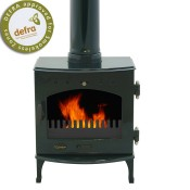 Carron 7.3kW Green Enamel Multifuel / Woodburning Stove