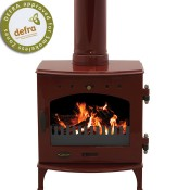 Carron 4.7kW Red Enamel Multifuel / Wood Burning Stove
