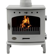 Carron 7.3kW Ash Grey Enamel Multifuel / Wood Burning Stove