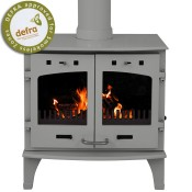 Carron 11kW Ash Grey Enamel Multifuel / Wood Burning Stove