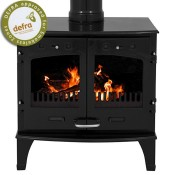Carron 11kW Black Enamel Multi-fuel / Woodburning Stove