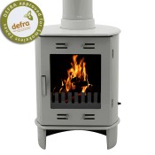 Carron Dante Ash Grey Enamel Multifuel / Woodburning Stove