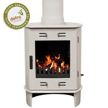 Carron Dante Cream Enamel Multifuel / Woodburning Stove
