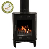 Carron Dante Black Enamel Multifuel / Woodburning Stove