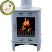 Carron Dante China Blue Enamel Multifuel / Woodburning Stove