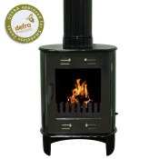Carron Dante Green Enamel Multifuel / Woodburning Stove