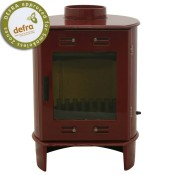 Carron Dante Red Enamel Multifuel / Woodburning Stove
