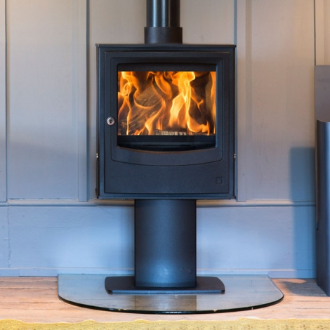 ARADA FARRINGDON SMALL ECO PEDESTAL MULTI-FUEL / WOOD BURNING STOVE